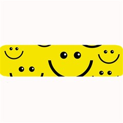 Digitally Created Yellow Happy Smile  Face Wallpaper Large Bar Mats