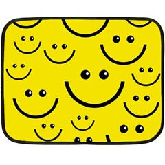 Digitally Created Yellow Happy Smile  Face Wallpaper Fleece Blanket (Mini)
