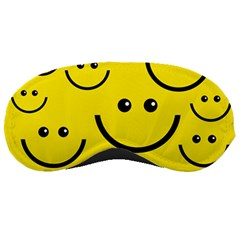 Digitally Created Yellow Happy Smile  Face Wallpaper Sleeping Masks