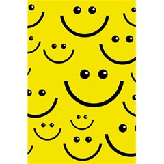 Digitally Created Yellow Happy Smile  Face Wallpaper 5 5  X 8 5  Notebooks