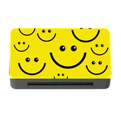 Digitally Created Yellow Happy Smile  Face Wallpaper Memory Card Reader with CF