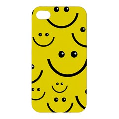 Digitally Created Yellow Happy Smile  Face Wallpaper Apple iPhone 4/4S Hardshell Case