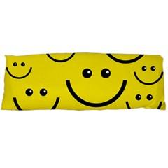 Digitally Created Yellow Happy Smile  Face Wallpaper Body Pillow Case (dakimakura)
