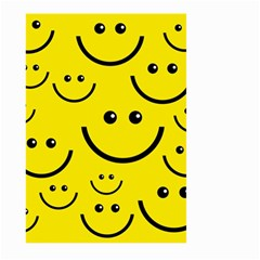 Digitally Created Yellow Happy Smile  Face Wallpaper Large Garden Flag (two Sides)