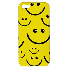 Digitally Created Yellow Happy Smile  Face Wallpaper Apple Iphone 5 Hardshell Case