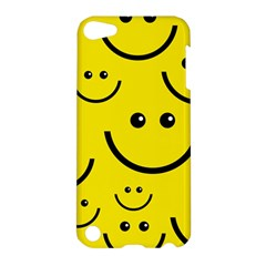Digitally Created Yellow Happy Smile  Face Wallpaper Apple Ipod Touch 5 Hardshell Case