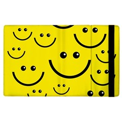 Digitally Created Yellow Happy Smile  Face Wallpaper Apple iPad 2 Flip Case