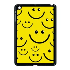 Digitally Created Yellow Happy Smile  Face Wallpaper Apple iPad Mini Case (Black)