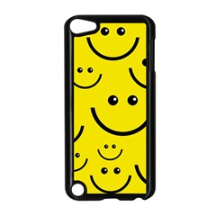 Digitally Created Yellow Happy Smile  Face Wallpaper Apple iPod Touch 5 Case (Black)