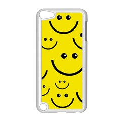 Digitally Created Yellow Happy Smile  Face Wallpaper Apple iPod Touch 5 Case (White)