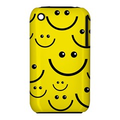 Digitally Created Yellow Happy Smile  Face Wallpaper iPhone 3S/3GS