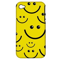 Digitally Created Yellow Happy Smile  Face Wallpaper Apple Iphone 4/4s Hardshell Case (pc+silicone)
