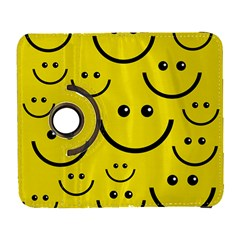 Digitally Created Yellow Happy Smile  Face Wallpaper Galaxy S3 (flip/folio)