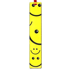 Digitally Created Yellow Happy Smile  Face Wallpaper Large Book Marks