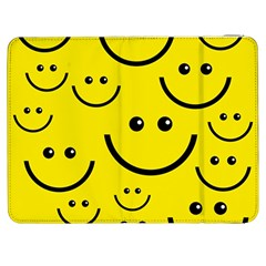 Digitally Created Yellow Happy Smile  Face Wallpaper Samsung Galaxy Tab 7  P1000 Flip Case