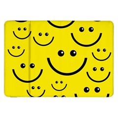 Digitally Created Yellow Happy Smile  Face Wallpaper Samsung Galaxy Tab 8.9  P7300 Flip Case