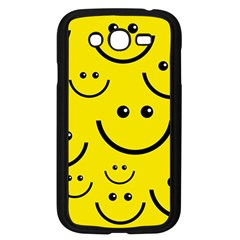 Digitally Created Yellow Happy Smile  Face Wallpaper Samsung Galaxy Grand DUOS I9082 Case (Black)