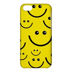 Digitally Created Yellow Happy Smile  Face Wallpaper Apple iPhone 5C Hardshell Case