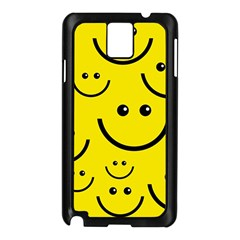 Digitally Created Yellow Happy Smile  Face Wallpaper Samsung Galaxy Note 3 N9005 Case (Black)