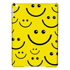 Digitally Created Yellow Happy Smile  Face Wallpaper iPad Air Hardshell Cases