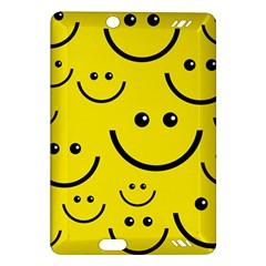 Digitally Created Yellow Happy Smile  Face Wallpaper Amazon Kindle Fire Hd (2013) Hardshell Case