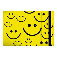 Digitally Created Yellow Happy Smile  Face Wallpaper Samsung Galaxy Tab Pro 10 1  Flip Case