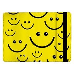 Digitally Created Yellow Happy Smile  Face Wallpaper Samsung Galaxy Tab Pro 12 2  Flip Case