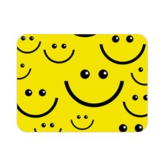 Digitally Created Yellow Happy Smile  Face Wallpaper Double Sided Flano Blanket (mini)
