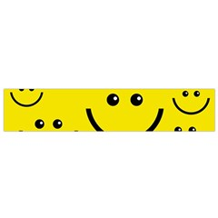 Digitally Created Yellow Happy Smile  Face Wallpaper Flano Scarf (small)