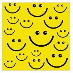 Digitally Created Yellow Happy Smile  Face Wallpaper Large Satin Scarf (square)