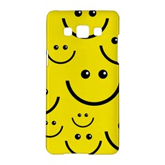 Digitally Created Yellow Happy Smile  Face Wallpaper Samsung Galaxy A5 Hardshell Case