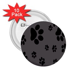 Dog Foodprint Paw Prints Seamless Background And Pattern 2.25  Buttons (10 pack)