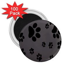 Dog Foodprint Paw Prints Seamless Background And Pattern 2 25  Magnets (100 Pack)