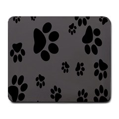 Dog Foodprint Paw Prints Seamless Background And Pattern Large Mousepads