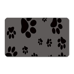 Dog Foodprint Paw Prints Seamless Background And Pattern Magnet (rectangular)