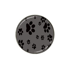 Dog Foodprint Paw Prints Seamless Background And Pattern Hat Clip Ball Marker (4 Pack)