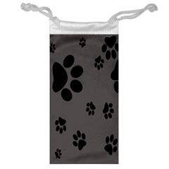 Dog Foodprint Paw Prints Seamless Background And Pattern Jewelry Bag