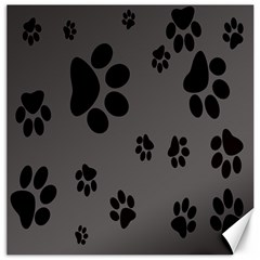 Dog Foodprint Paw Prints Seamless Background And Pattern Canvas 20  X 20