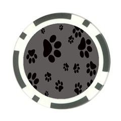 Dog Foodprint Paw Prints Seamless Background And Pattern Poker Chip Card Guard
