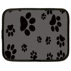Dog Foodprint Paw Prints Seamless Background And Pattern Netbook Case (large)