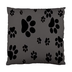 Dog Foodprint Paw Prints Seamless Background And Pattern Standard Cushion Case (One Side)