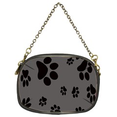 Dog Foodprint Paw Prints Seamless Background And Pattern Chain Purses (Two Sides)