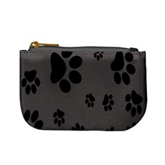 Dog Foodprint Paw Prints Seamless Background And Pattern Mini Coin Purses