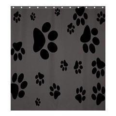 Dog Foodprint Paw Prints Seamless Background And Pattern Shower Curtain 66  x 72  (Large)