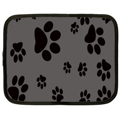 Dog Foodprint Paw Prints Seamless Background And Pattern Netbook Case (xxl)