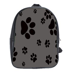 Dog Foodprint Paw Prints Seamless Background And Pattern School Bags(large)