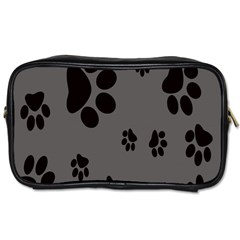 Dog Foodprint Paw Prints Seamless Background And Pattern Toiletries Bags 2 Side
