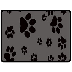Dog Foodprint Paw Prints Seamless Background And Pattern Fleece Blanket (Large)