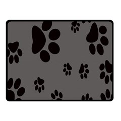 Dog Foodprint Paw Prints Seamless Background And Pattern Fleece Blanket (Small)
