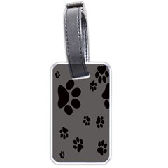 Dog Foodprint Paw Prints Seamless Background And Pattern Luggage Tags (One Side)